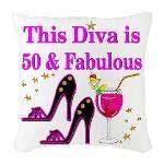 50TH PRIMA DONNA Burlap Throw Pillow http://www.cafepress.com/jlporiginals/12446892 #50thbirthday #50yearsold #Happy50thbirthday #50thbirthdaygift #50andfabulous #turning50  #happy50th