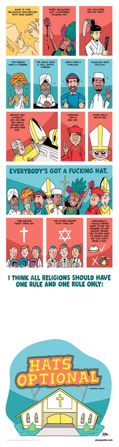 23: GEORGE CARLIN: On religious hats (EXPLICIT)