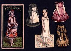 """McLoughlin Bros. """"Helen"""" paper doll"""
