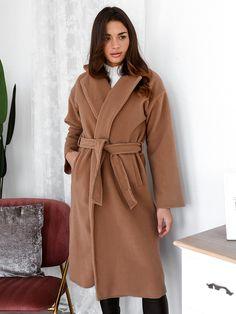 Παλτό Μακρύ Με Ζώνη Μπεζ - Freda Coats, Fashion, Dress, Moda, Wraps, Fashion Styles, Coat, Fashion Illustrations, Winter Coats