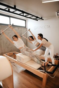 Pilates Reformer Exercises, Pilates Workout, Fitness Journal, Fitness Studio, Home Gym Basement, Studio Organization, Pilates Studio, Studio Design, Get In Shape