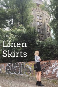 14 ethical, sustainable and handmade linen skirts from Europe. Slow Fashion, Ethical Fashion, Linen Skirt, Fashion Articles, Girl Boss, Sustainable Fashion, Sustainability, Europe, Green