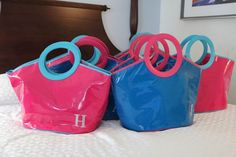 Give each of your bridesmaids a beach tote as her thank-you gift.Photo Credit: In His Image Film
