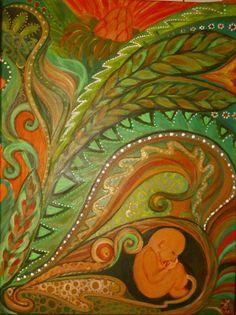 WACHSTUM Acryl auf Leinwand 100x80 cm  Runa Argeya