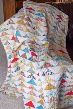 Well, here it is. The flying geese quilt for my mom is finally finished and I am thrilled with the results. More importantly, I hope my mom ...
