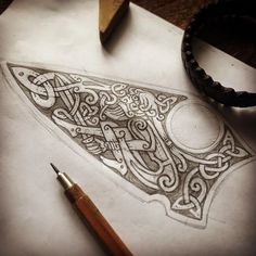 Warrior and Snakes - sketch for engraving on a knife blade ⚔️ (fast sketch) Воин и змей - эскиз для гравировки на лезвие ножа #celtic #celticart #knife #celticknot #ornaments #кельты #arzarz #emblem #irish #celticartlogo #artwork #Arzamastsev #siberia #doodle #celticdesign #knotwork #pencil #dragon #viking #line #art #illustration #linework #sketch #drawing #norse #workprocess #pencilsketch #vikingart #warrior