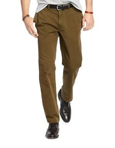 Polo Ralph Lauren Classic-Fit Low-Rise Chino Pants Men's Dark Loden 34