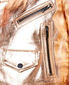Imagem 7 de CASACO METÁLICO DE PELE da Zara