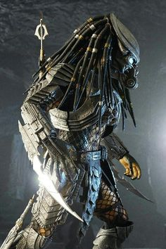 Recently, I have also completed Celtic as part 2 of the AVP project. AVP Part 2 - Celtic Predator (MGBB Custom Version) New CG at post ,Toysdaily 玩具日報 Alien Vs Predator, Predator Movie, Predator Alien, Predator Series, Predator Cosplay, Predator Helmet, Apex Predator, Predator Tattoo, Science Fiction