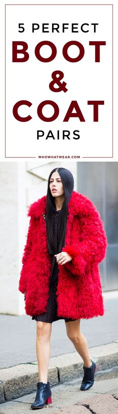 Essential fall coat and boot pairings to know
