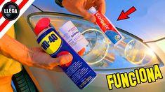 El Mejor TRUCO Para PULIR los FAROS del COCHE - Life Hacks How To Clean Headlights, Car Headlights, Pula, Dodge Ram 4x4, Headlight Repair, Car Polish, Wd 40, Car Wash, Car Accessories
