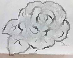 Filet Crochet, Crochet Diagram, Crochet Chart, Crochet Tablecloth Pattern, Crochet Doily Rug, Crochet Flowers, Cross Stitch Flowers, Cross Stitch Patterns, Crochet Designs