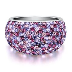 Purple Crystal Dome Ring in Sterling Silver by @Helzberg Diamonds Diamonds #helzberg #jewelry #aislestyle Enter the Aisle Style Sweeps for a chance to win up to $3,000 in gift certificates from David's Bridal & Helzberg Diamonds! Enter now thru 9/2: http://sweeps.piqora.com/aislestyle Rules: http://sweeps.piqora.com/contests/contest/content/davidsbridal.com/310/rules