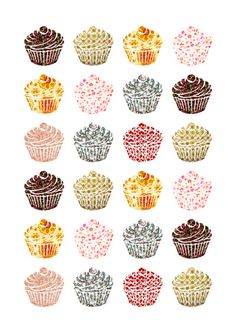 when you look at a cupcake you've got to smile Art Print
