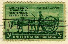 Minnesota 3-cent postage stamp
