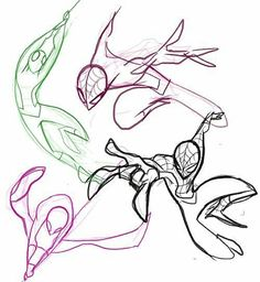 Spiderman you are actually really cool to draw. Drawing Reference Poses, Drawing Poses, Art Poses, Drawing Sketches, Art Reference, Spiderman Poses, Spiderman Kunst, All Spiderman, Drawing Cartoon Characters
