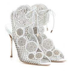 weiße Sandalen aus Leder ✽ Nicholas Kirkwood ¦
