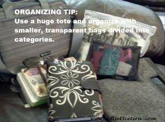 Organizing a Large Tote Bag