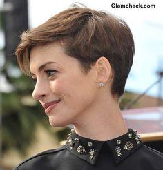 Short Pixie Hairstyles- Anne Hathaway