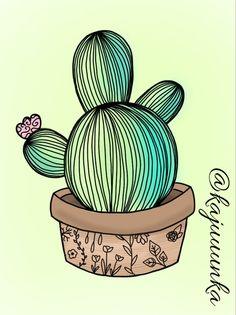 Cactus 🌸 #cactus #summer #drawing #idea #outline
