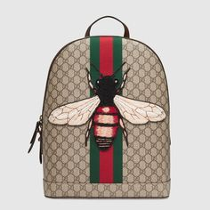 Gucci Web Animalier Backpack with Bee
