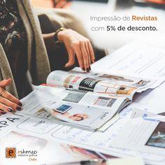 #GraficaOnline: Imprima revistas com a melhor qualidade de impressão e acabamento e #FreteGratis para todo o Brasil. Utilize o cupom RE05F ao finalizar o seu pedido e obtenha 5% de desconto.