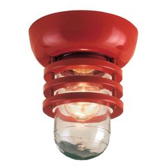 FGU Flush Mount, 97-Red, Clear Glass