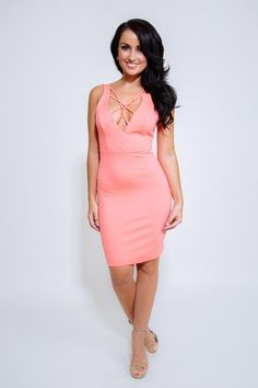 NIA Hot Peach Dress