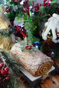 In honor of the holiday season, we present to you, our Gluten Free Yule Log. Lightly spiced, this cake is a delicious addition to your holiday table.   Gluten Free Holiday Recipes   Gluten Free Christmas Recipes   Gluten Free Desserts   Gluten Free Sweets