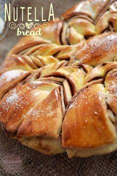 nutella-bread2 Nutella Bread, Twist Bun, Flan, Tiramisu, Goodies, Cooking Recipes, Sweets, Desserts, Easter