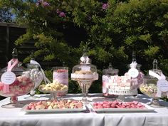 Lace outdoor candy buffet
