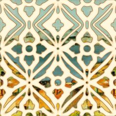 "tile art | This is a ceramic tile, size 6""x6"", with a unique Mediterranean design ..."