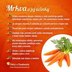 Mrkva a jej účinky na chudnutie a zdravie človeka Raw Food Recipes, Healthy Recipes, Home Health Care, Healing Herbs, Natural Medicine, I Foods, Cooking Tips, Natural Remedies, Healthy Lifestyle