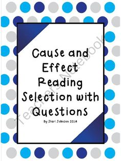 Cause and Effect Reading Selection from Some Kind of Teacher on TeachersNotebook.com -  (4 pages)  - This cause and effect reading activity for second, third, or fourth graders includes a story, 6 questions, and 1 drawing activity.