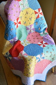 Quilt Baby Flannel Peachy Keen by Moda Lap Throw by PiecesOfPine
