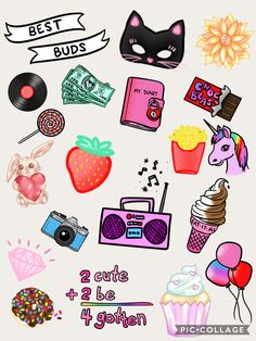 Collage by stickers in Pic Collage