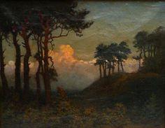 Charles Warren Eaton, Sunset glow landscape