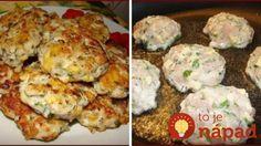 Jemné kuracie fašírky s cesnakom a syrom