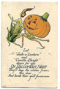 """Let ""Jack-o'Lantern"" and ""Candle - Bright"" dance for you On Halloween Night They'll keep the witches from the door And break their spell forevermore"""