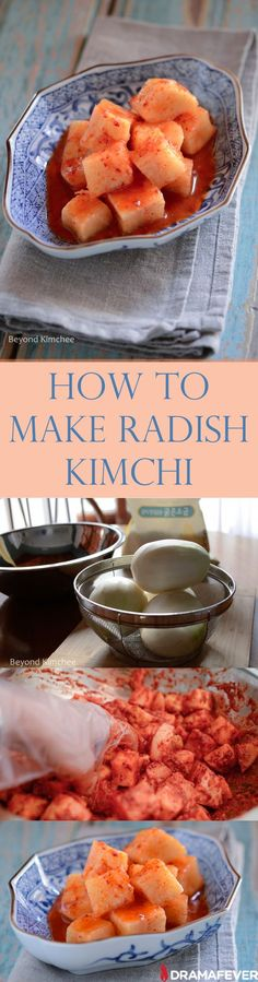 o here is a quick and simple radish kimchi that we call Kkattugi (깍두기). With the crunchy texture and the fermented flavor, Kkattugi seems to be beloved by everyone, even people who are not keen on Korean food.