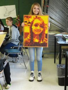 Challenge: Creating a portrait of your friend in Skittles