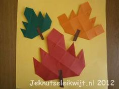 Fall Craft autumn leaf folding