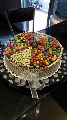 Torta golosinera!!! Easy Recipes, Easy Meals, Dessert Recipes, Desserts, Gingerbread, Decoupage, Cake Decorating, Cupcakes, Birthday