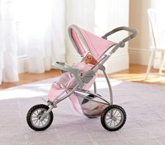 Doll Jogging Stroller | Pottery Barn Kids $89~ pricey, but adjusts to height and is well made so would last a long while.