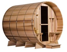 Grandview Barrel Sauna | Health Benefits and Pampering at Its Best  My parents have this @ their summer cottage, it's a quick way to get it heated.