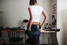 skinny fit cotton + boyfriend jeans