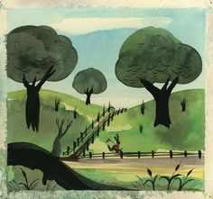 Mary Blair concept painting for Song of the South