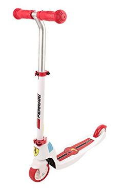Ferrari Kids 125mm 2Wheels Mutifunction Kick Scooter Two in One White * Check this awesome product by going to the link at the image.