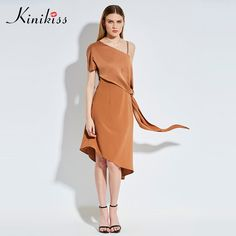 Kinikiss 2017 women asymmetrical casual summer dress camel one shoulder backless party dress spring elegant fashion club dress #Fashion spring http://www.ku-ki-shop.com/shop/fashion-spring/kinikiss-2017-women-asymmetrical-casual-summer-dress-camel-one-shoulder-backless-party-dress-spring-elegant-fashion-club-dress/