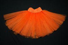 Orange Tulle Tutu for newborn or infant or by EmmelynsMommy, $12.00